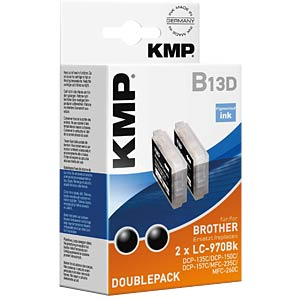 Ink - Brother - black - 2x  LC-970BK - rebuilt KMP PRINTTECHNIK AG 1060,0021