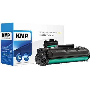 Toner — HP — black — 36A — remanufactured KMP PRINTTECHNIK AG 1211,0000