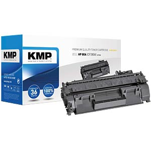 Toner — HP — black — 80A — remanufactured KMP PRINTTECHNIK AG 1235,6000