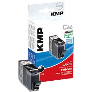Black, pigmented: Canon PIXMA MP500/800/iP4300 KMP PRINTTECHNIK AG 1504,0001