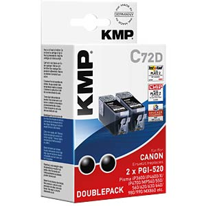 Ink - Canon - black - 2x PGI-520 - rebuilt KMP PRINTTECHNIK AG 1508,0021
