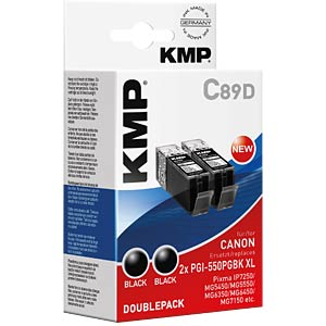 Tinte, schwarz - 2xPGI-550PGBK XL KMP PRINTTECHNIK AG 1518,0021