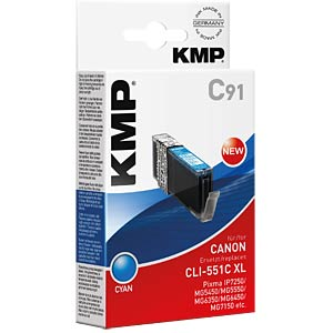 Tinte, cyan - CLI-551C XL - rebuilt KMP PRINTTECHNIK AG 1519,0003