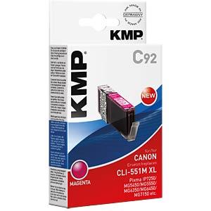 Tinte - Canon - magenta - CLI-551M XL - rebuilt KMP PRINTTECHNIK AG 1519,0006