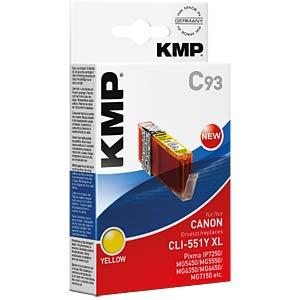 Tinte, gelb - CLI-551Y XL - rebuilt KMP PRINTTECHNIK AG 1519,0009