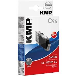 Tinte, grau - CLI-551GY XL - rebuilt KMP PRINTTECHNIK AG 1519,0041