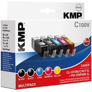Tinte, MP - PGI-550/CLI-551 - refill KMP PRINTTECHNIK AG 1519,0050