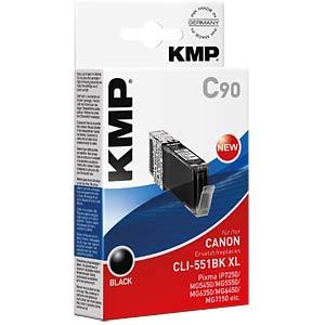 Tinte - Canon - schwarz - CLI-551BK XL - rebuilt KMP PRINTTECHNIK AG 1520,0001