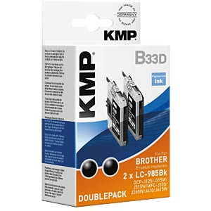 Ink — Brother — black — 2x LC-985BK KMP PRINTTECHNIK AG 1523,0021