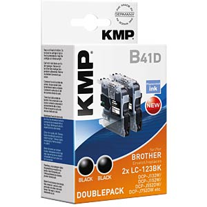 Ink — Brother — black — 2x LC-123BK KMP PRINTTECHNIK AG 1525,0021
