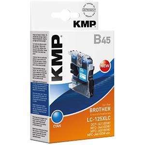 Ink — Brother — cyan — LC-125XLC — refill KMP PRINTTECHNIK AG 1526,0003
