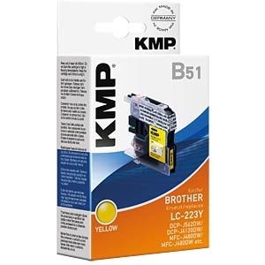Ink — Brother — yellow — LC-223Y — refill KMP PRINTTECHNIK AG 1529,0009