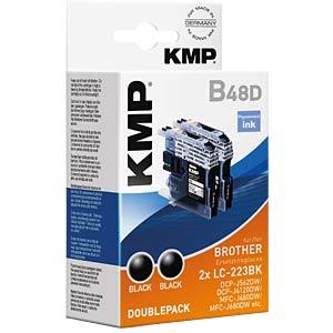Ink — Brother — black — 2x LC-223BK — refill KMP PRINTTECHNIK AG 1529,0021