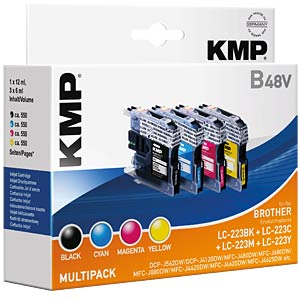 Ink — Brother — MP — LC-223BK/C/M/Y — refill KMP PRINTTECHNIK AG 1529,0050