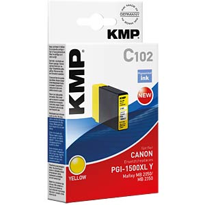 Ink — Canon — yellow — PGI-1500XL Y — comp. KMP PRINTTECHNIK AG 1564,0009