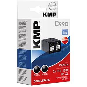 Tinte, schwarz - 2x PGI-1500XL BK KMP PRINTTECHNIK AG 1564,0021