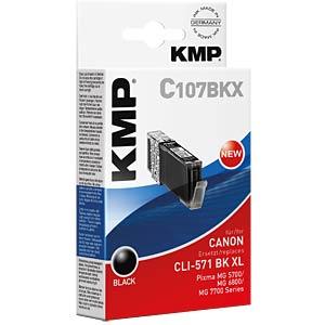Ink — Canon — black — CLI-571BK KMP PRINTTECHNIK AG 1568,0001