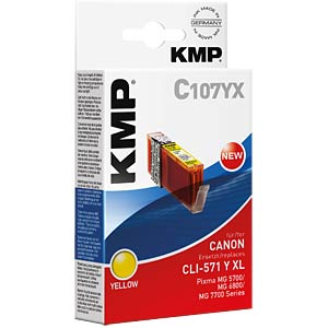Ink — Canon — yellow — CLI-571Y KMP PRINTTECHNIK AG 1569,0009