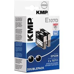 Ink - Epson - black - 2x T0711 - refill KMP PRINTTECHNIK AG 1607,4021
