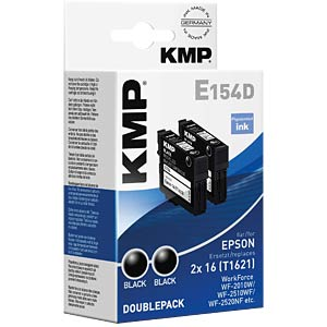 Tinte - Epson - schwarz - 2x T1621 - refill KMP PRINTTECHNIK AG 1621,4821