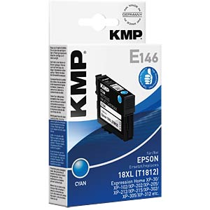 Tinte - Epson - cyan - T1812 - refill KMP PRINTTECHNIK AG 1622,4003