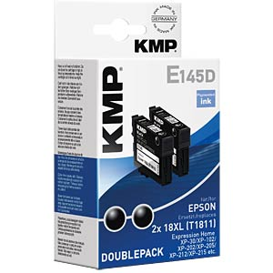 Tinte - Epson - schwarz 2x T1811- refill KMP PRINTTECHNIK AG 1622,4021