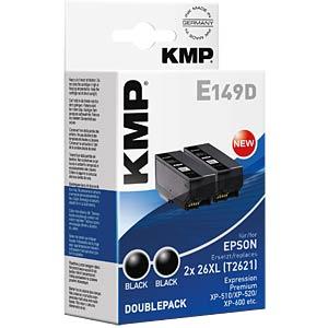 Tinte - Epson - schwarz - 2X T2621 - refill KMP PRINTTECHNIK AG 1626,4021