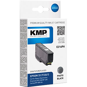 Tinte - Epson - fotoschwarz - T3341 - refill KMP PRINTTECHNIK AG 1633,4841