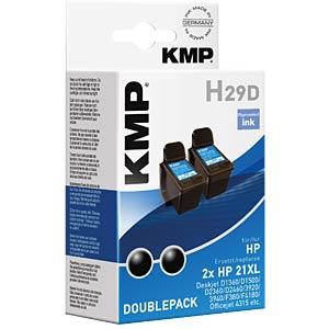 Tinte - HP - schwarz - 2x 21XL - refill KMP PRINTTECHNIK AG 1900,4021