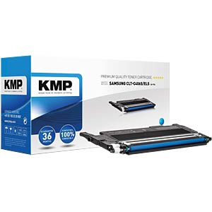 Toner — Samsung — cyan — CLT-C406S — comp. KMP PRINTTECHNIK AG 3510,0003