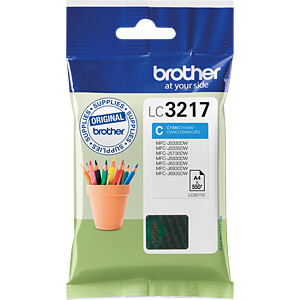 Tinte - Brother - cyan - LC3217 - original BROTHER LC3217C
