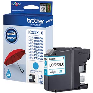 Tinte - Brother - cyan - LC225XL - original BROTHER LC225XLC