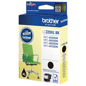 Ink - Brother - black - LC229XL - original BROTHER LC229XLBK