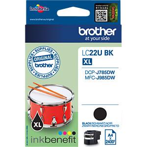 Tinte - Brother - schwarz - LC22UBK - original BROTHER LC22UBK