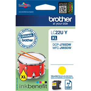 Tinte - Brother - gelb - LC22UY - original BROTHER LC22UY