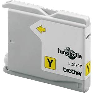 Yellow: Brother DCP-135C, 150C BROTHER LC970Y