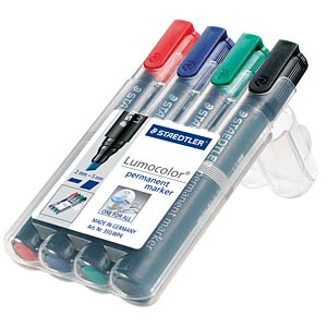 Permanent Marker, 2 oder 5 mm / 4-color STAEDTLER 350 WP4