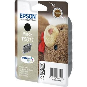 Tinte - Epson - schwarz - T0611 - original EPSON C13T06114010
