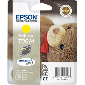 Yellow: Epson Stylus D68/88/DX3800/4800... EPSON C13T06144010