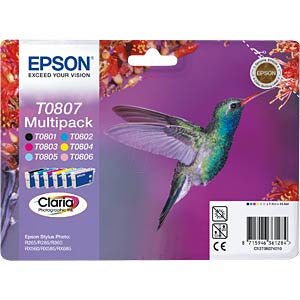 6-colour multi-pack: Epson Stylus Photo R265/R360 EPSON C13T08074011