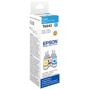 Cyan ink bottle for EcoTank EPSON C13T664240