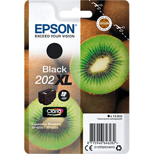 Tinte - Epson - schwarz - 202XL - original EPSON C13T02G14010