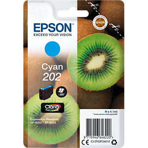 Tinte - Epson - cyan - 202 - original EPSON C13T02F24010