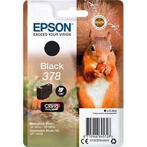 Tinte - Epson - schwarz - 378 - original EPSON C13T37814010