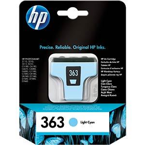 Inkt - HP - licht-cyaan - 363 - origineel HEWLETT PACKARD C8774EE
