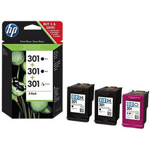 Tinte - HP - Multipack - 301 - original HEWLETT PACKARD E5Y87EE