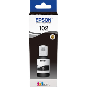 Tinte - Epson - schwarz - 102 EcoTank - original EPSON C13T03R140
