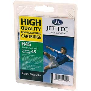 Tinte - HP - schwarz - H45 (51645A) - refill JET TEC 101H004501