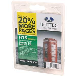 Tinte - HP - schwarz - 15 - refill JET TEC 101H001501