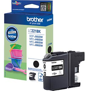 Tinte - Brother - schwarz - LC221 - original BROTHER LC221BK